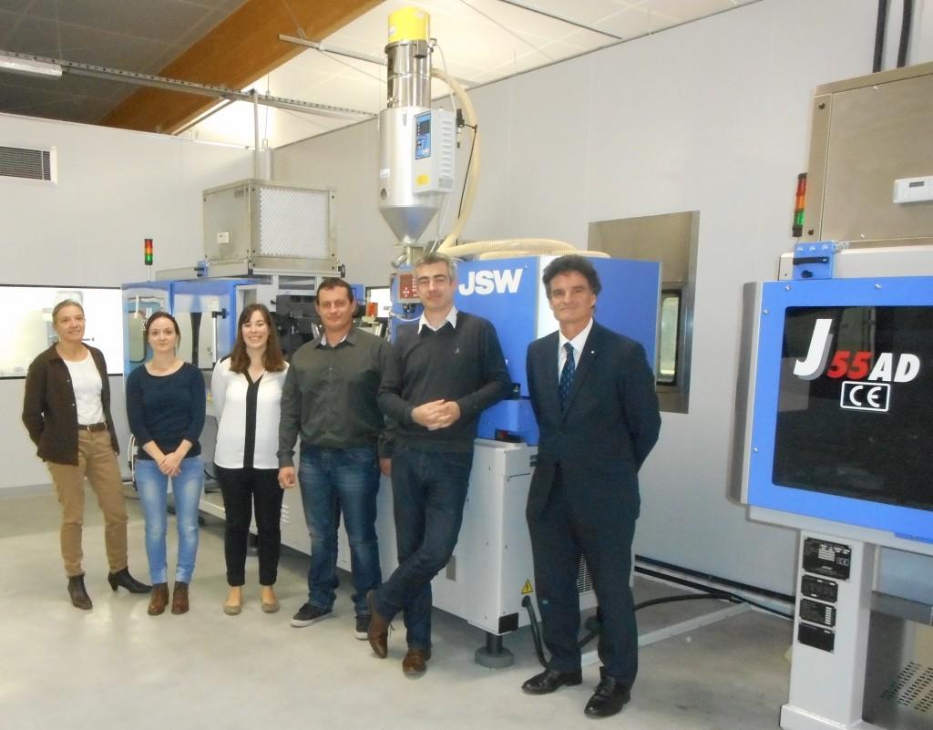 Paul Molac aux côtés de Fabien Martin, Président d'ODC industrie et son équipe.