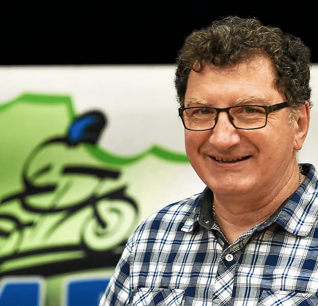 SPORTS - CDA - MOTO ASSEMBLEE GENERALE DE LA LIGUE A PLOUER / RANCE -_ Patrick Bertaud (MC Lamballais) élu nouveau président de la ligue à Plouër Sur Rance.(Photo Joël Galiot)
